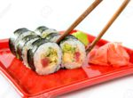 9658491-Japanese-sushi-rice-raw-fish-and-seafood-Stock-Photo-sushi-plate